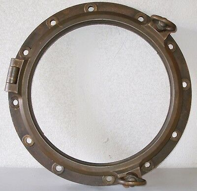 "Porthole bronze 21"" porthole diameter  salvaged Nautical Maritime no glass"