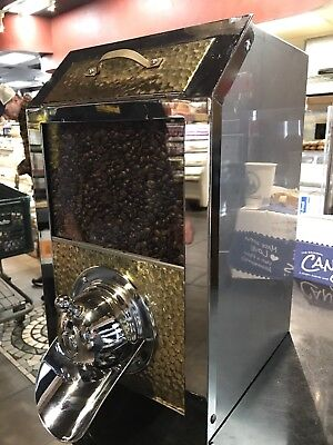 Stainless Steel Metal Coffee Bean Dispenser Café Bistro Display Bin