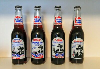 Set Of 4 1991 Pepsi Longneck Bottles..richard Petty Nascar / Stock Car Racing