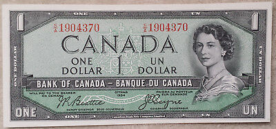 ***CANADA 1 DOLLAR 1954 UNC Uncirculated Banknote Bill Paper Money Currency***