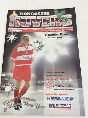 Doncaster Rovers   v Halifax Town   Nationwide Conference  December  2002