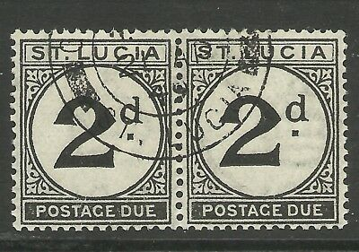 St Lucia - Pair of postage dues - VFU superbly cancelled - Cat £22