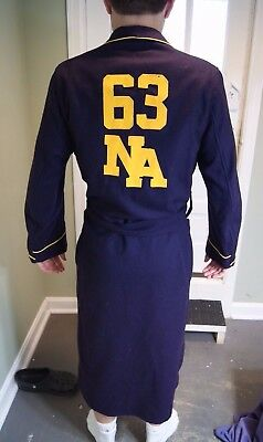 "U.S. Naval Academy ""B"" Robe Midshipmen's Store Bath / Smoking Robe 1963"