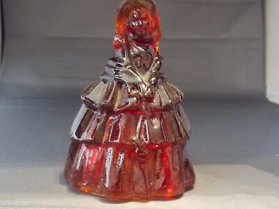 Vintage Boyd Glass Louise the Doll Flame Red Carnival Glass '80