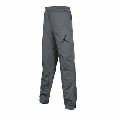 Nike Jordan Boys grey zipper Therma-FIT Jogger Sweatpant  Medium