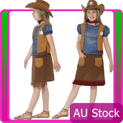 CK1027 Girls Western Belle Cowgirl Costume Sheriff Wild West Fancy Dress Outfit