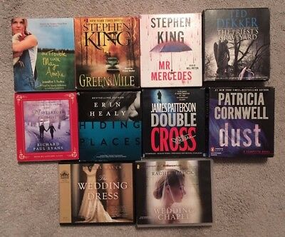 Lot of 10 Audiobooks Books on CD Patterson King Cornwell Hauck Drama Thriller