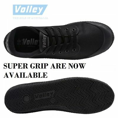 MENS VOLLEY SUPER High GRIP Black Roofer Roof Roofing Workwear Canvas Shoes