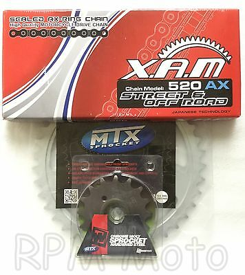 2013 - 2017 Honda CB500X XAM x ring chain and MTX steel sprocket kit 15/41
