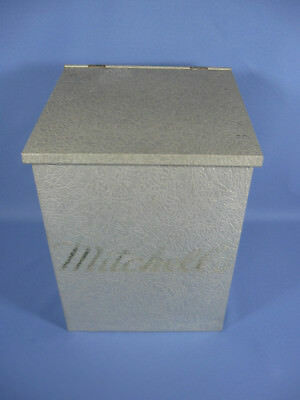 MITCHELL'S DAIRY Milk Delivery Box Galvanize Metal Insulated Farm Cows Home City
