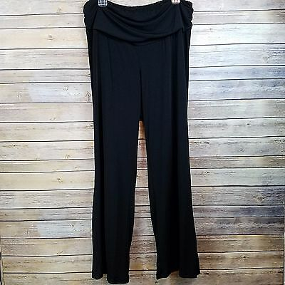 OH BABY by MOTHERHOOD MATERNITY Pants Black Stretch Wide Straight Leg size Large