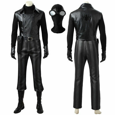 Avengers SpiderMan Noir Peter Parker Cosplay Costume Handmade