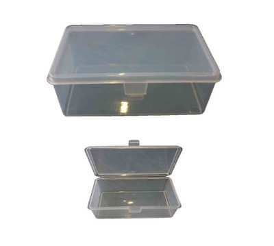 20 X 1L Plastic Storage Hinged Container Strong Tub Bin Lunch Box Boxes 1LT Crat