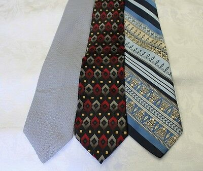 "Lot Of 3 Ties Different Name Width 4"" & Classic Length 57""-60"""
