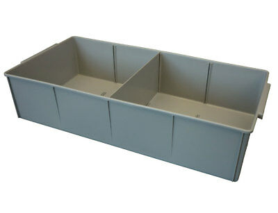 4 X Plastic Spare Parts Tray 600L x 248W x 100H Compartment Divider Storage Bin
