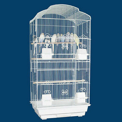 NEW Large Tall Canary Parakeet Cockatiel LoveBird Finch Bird Cage WHT 462