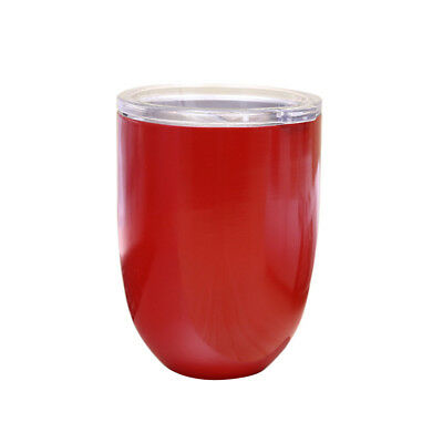 Red Stainless Steel Cup Double Wall Insulated Insulated Cup Champagne 12cm