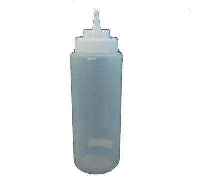 12 x Sauce Squeeze Bottle 944ml Wide Mouth Clear with Screw Top Food Grade