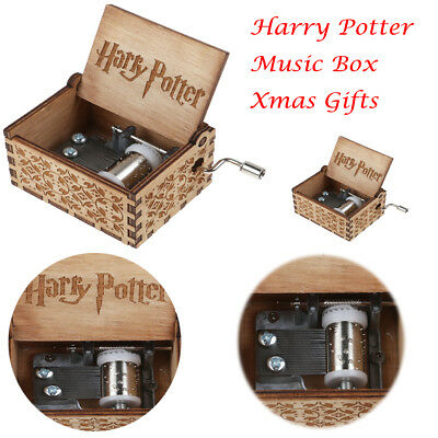 Hot Harry Potter Interesting Engraved Wooden Music Box Toys Xmas Gifts
