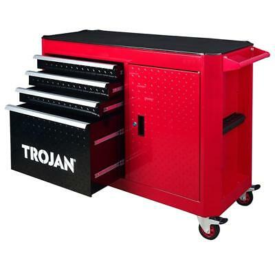 Trojan 4 Drawer and 1 Door Roller Cabinet