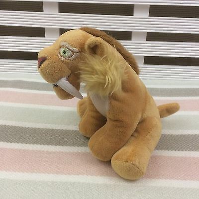 """Ice Age 4 Sabre Toothed Tiger Soft Toy Plush 7"""""""