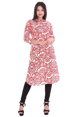 Casual Women Cotton Indian Bollywood  Kurta Ethnic Top Tunic Printed A-Line
