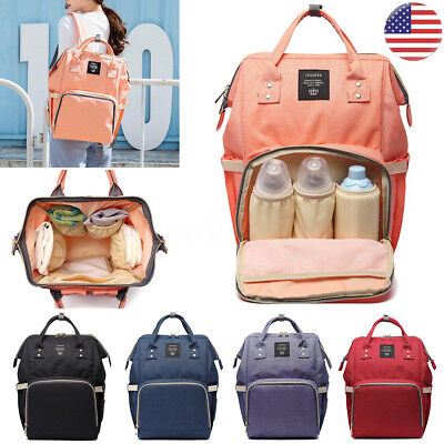 Multifunctional Baby Diaper Bag Mummy Travel Backpack Maternity Nappy Large US