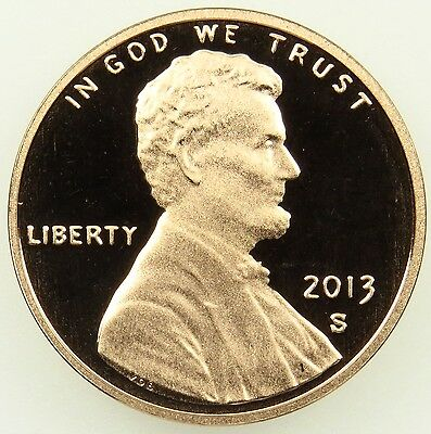 2013 S Deep Cameo Proof Lincoln Shield Cent Penny (B02)