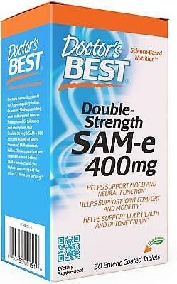 Doctors Best SAM-e, 400mg x 30 Tablets - Joints & Arthritis, Mood, Liver Health