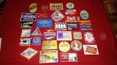 Lot Of 240 Original Luggage Hotel Labels