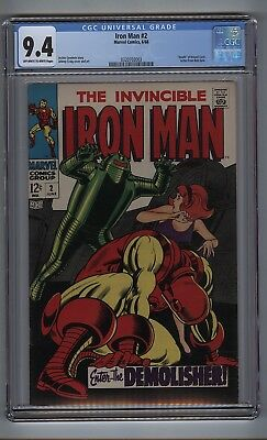 Iron Man #2 (CGC 9.4) OW/W pgs; Death of Drexel Cord; Bob Gale letter (c#16352)