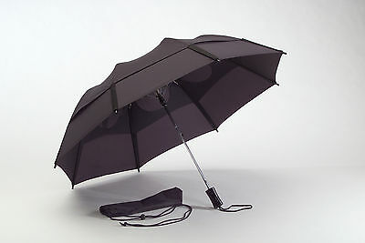 "Gustbuster 43"" Metro collapsable travel umbrella logo overruns no color choices"