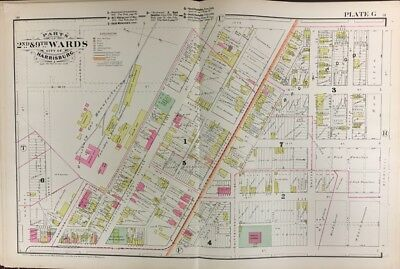 1925 PHILADELPHIA PA MT VERNON /& PEACE CEMETERY-CENTRAL HS COPY PLAT ATLAS MAP