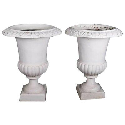 Pair of Oversized Garden Urns