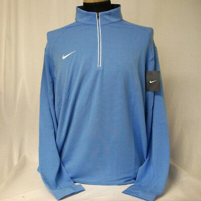 NEW Nike Dri-Fit Gameday 1/2 Zip Pullover Top Light Blue/White Size 2XL