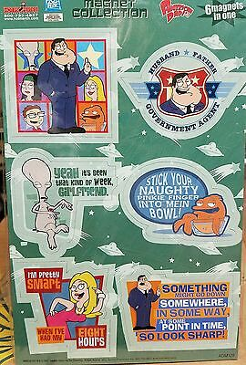 American Dad Tv Show Seth Macfarlane Roger Stan Die-Cut Magnet Collection Mint