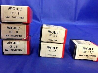 Lot of 6* NEW* McGill Precision Bearings (3) CF1B, (2) MI1N, (1) CYR 1 1/4