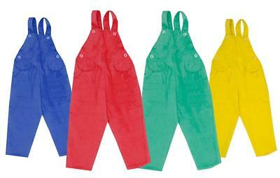 Boys/Girls Toddler Bright Corduroy Dungarees Trousers 18 Months to 4 Years