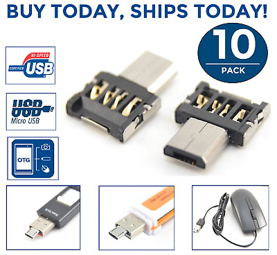 10PC Lot Micro USB Male to USB Female OTG Adapter Converter Tablet Android Phone