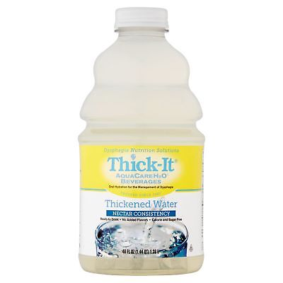 Thick-It AquaCareH2O Beverage Thickened Water Nectar Consistency, 46 oz