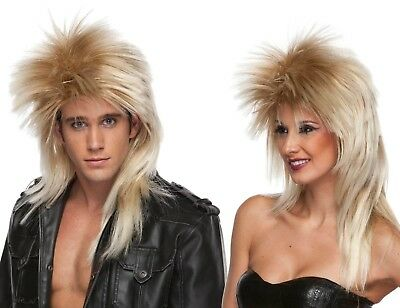80's Heavy Metal GLAM Rock Poison Def Leppard WIG Long Rocker Costume Blonde