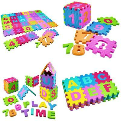 Baby Play Mat Foam Floor Puzzle 36 Tiles Activity Safety Playmat Educational Toy