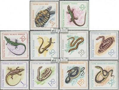 Romania 2377-2386 (complete issue) unmounted mint / never hinged 1965 Reptiles