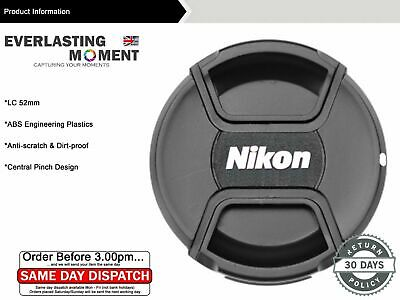52mm Centre Pinch Lens Cap for Nikon D7100/D5300 18-55mmVRII/35mmf/1.8G/50m Lens