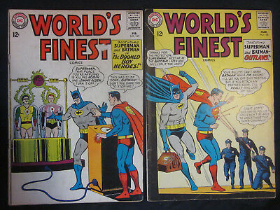 WORLD'S FINEST *Lot of 2* #147 148 DC Comics 1965 Superman BATMAN Robin AQUAMAN
