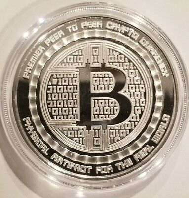 Bitcoin Guardian Proof 1 oz .999 fine Solid silver commemorative Digital AI Rare