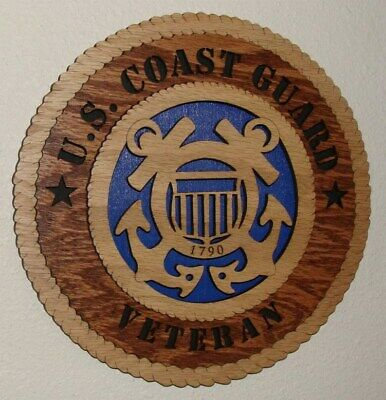 """Proud Member Laser Cut 3D Wood Wall Tribute Plaque 11¼/"""" US Amvets Auxiliary"""