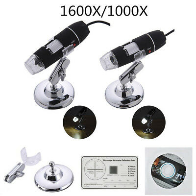 1600X/1000X 8 LED USB2.0 Zoom Digital Microscope Hand Held Biological Endoscope