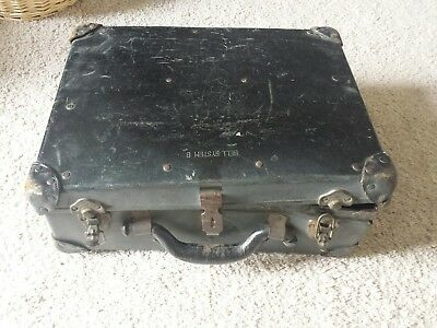 VINTAGE BELL SYSTEM B TOOL BOX CASE TELEPHONE REPAIR MAN KIT W/ POCKETS & Tools