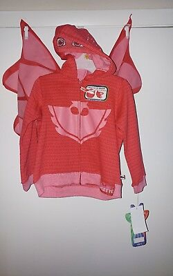 PJ Masks Owlette Zip Up Costume Hoodie with Wings Size 3T Girls NWOT